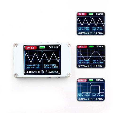 Taxa de Amostra m de Largura de Banda Handheld Mini Bolso Portátil Ultra-pequeno Osciloscópio Digital 1 5 m Kit Dso188