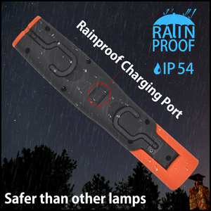 Image 5 - Lampe dinspection de LED portative de lumière de travail de LED sans fil Rechargeable double crochets lumière de torche LED avec la prise de lue pliable magnétique