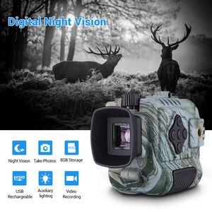 Image 1 - Portable Mini Infrared Night Vision Monocular Digital Scope Telescope Long Range 8GB DVR Camera For Outdoor Sport Hunting