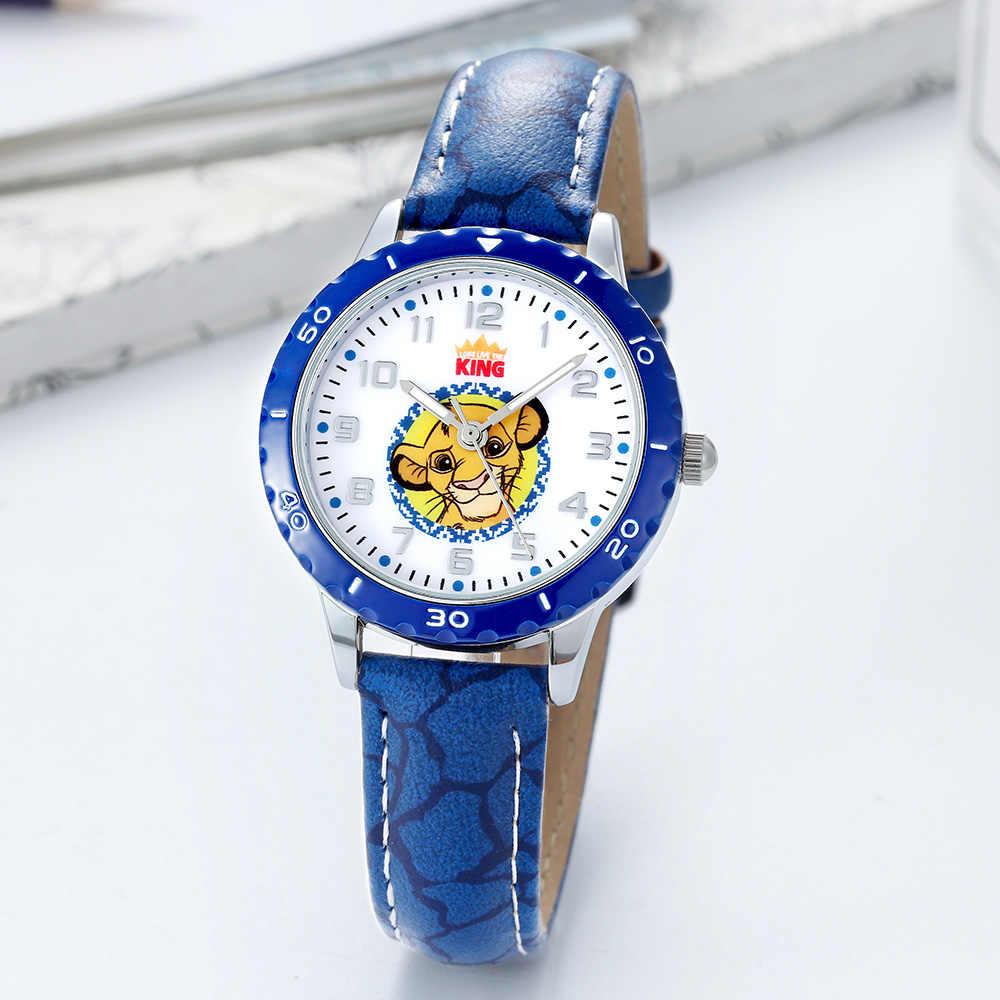 דיסני של רשמי אמיתי קריקטורה מלך אריות סימבה קוורץ שעון pu רצועה עמיד למים ילדים בני בנות ילדים שעונים Reloj
