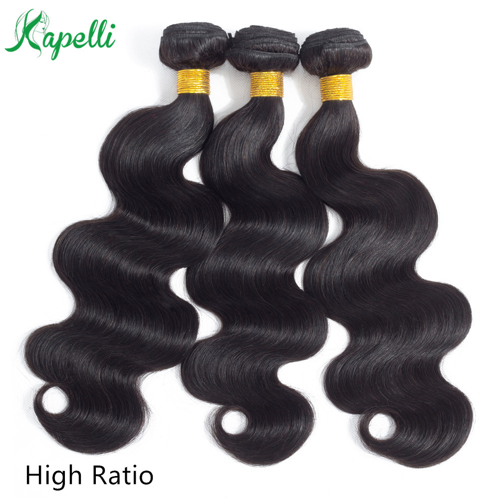 1/3/4 pieces Indian Body Wave Hair Bundles Natural Color 100% Human Hair Extension 8 to 30 inch bundles Non-Remy Hair Weaving