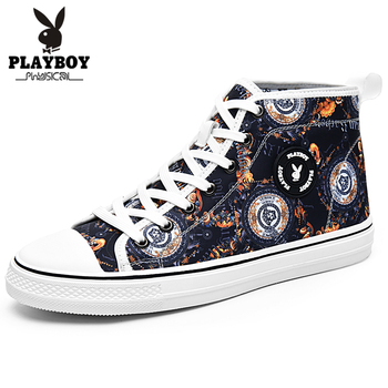 PLAYBOY New Super Hot Spring and Autumn Men Boots Comfortable Quality High Top Shoes Men New Casual Shoes Botas Breathable Boots