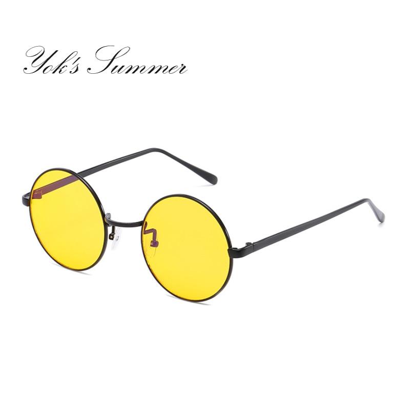 Driver-Glasses Night-Driving John Vision Yellow Round UL993 Gafas Eyewear Lennon-Hipster