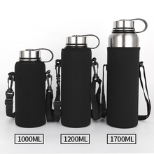 Large insulated kettle 1000ml 1200ml 1700ml  large capacity 304 stainless steel thermos bottle filter tea outdoor sports