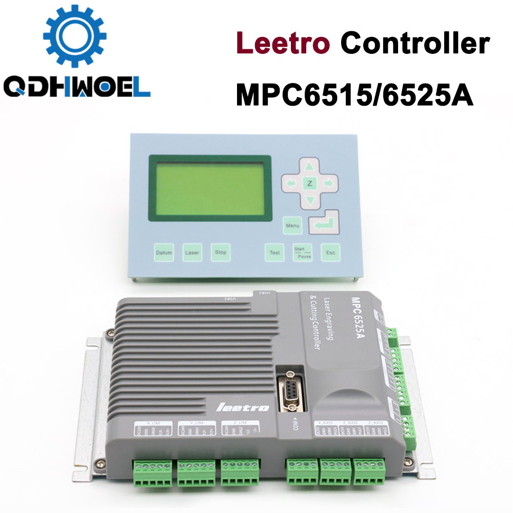 Laser Controller MPC6515 Leetro MPC6525 Co2 Laser Controller System For Laser Machine Cutting System With Panel PAD-03