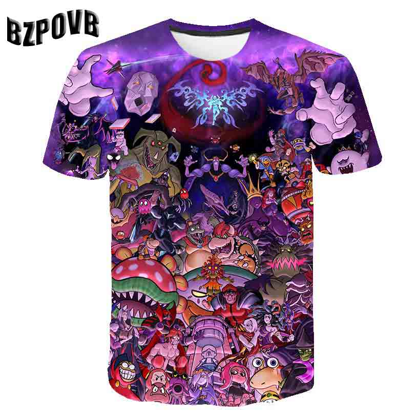 2019 T-Shirt Psychedelic 3d Print T Shirt Women Men Fashion Clothing Tops Outfits Tees Summer Style Plus Size S-6XL