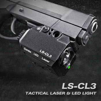 Laserspeed Compact Red Dot Laser Sight Pointer with Tactical LED Flashlight Combo 20mm Rail for Glock Pistol 9mm Hunting Gun