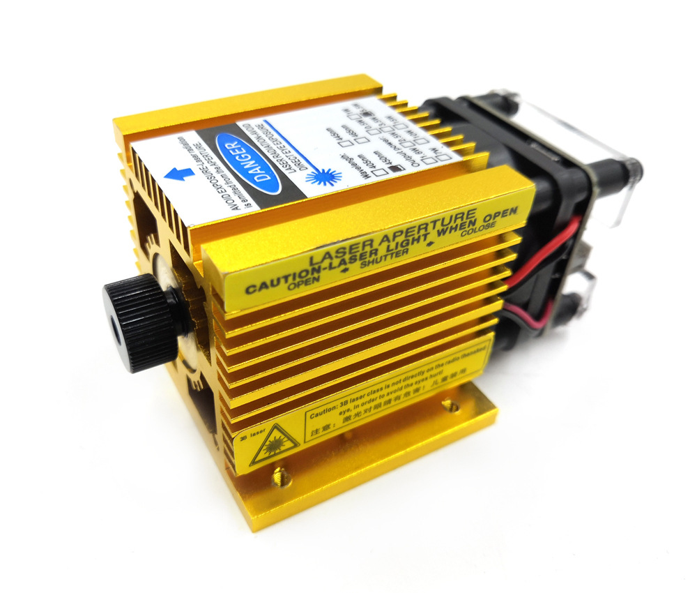 Updated Version 500MW 2.5W 5.5W 15W Laser Heads Focusing Yellow Color 3P With TTL/PWM CNC Laser Engraving Module