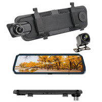 Registrator Video recorder rear view mirror back up camera DVR Dash cam Full touch screen 9.66 inch Stream Media