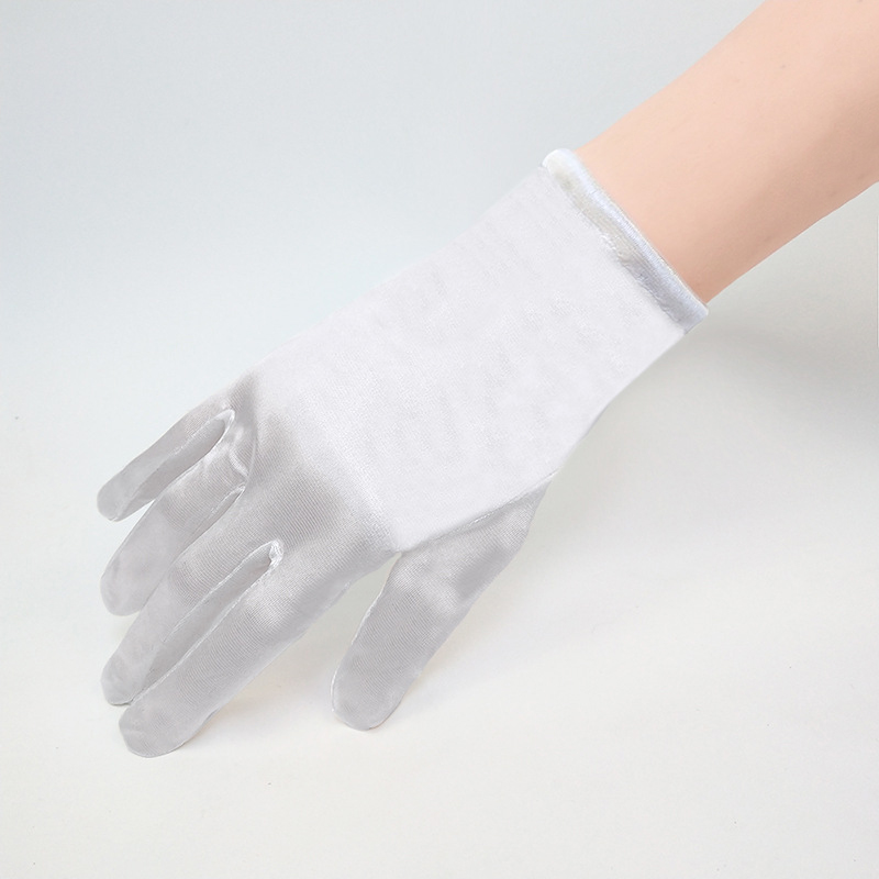 Elegant Short Wrist White Ivory Black Bridal Gloves Wedding Accessories Wedding Gloves For Bride Gloves Fingers