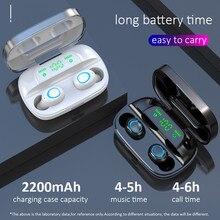 S11TWS 9D 스테레오 블루투스 5.0 헤드폰 IPX7 스포츠 방수 이어 버드 모든 안드로이드 iOS 스마트 폰에서 작동 무선 이어폰