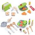 Holz Pretend Spielen Sets SKitchen Rolle Spielzeug Kinder imulation Toasters Brot Maker Kaffee Maschine Mixer Backen Kit Spiel Mixer