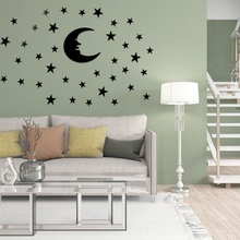 Yoon Star lustro akrylowe dekoracja naklejki DIY ściana naklejki dekoracyjne sztuki ural do salonu dzieci pokoju dziecięcego łazienka M tanie tanio as show mirror sticker Acrylic
