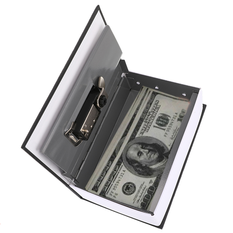 Mini Dictionary Book Safe Box Money Hide Secret Security Safe Lock Cash Money Coin Storage Piggy Bank Jewelry Key Locker Gift