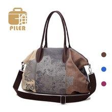 PILER Casual Big Women Bag Handbags Canvas Shoulder Bags Hobo Large Crossbody Tote Handbag Shopping Bags for Women Messenger Bag