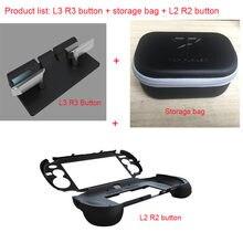 Para psv1000 psv 1000 l3 r3 aperto de mão jogo console suporte caso com l2 r2 botão gatilho para ps vita 1000 saco de armazenamento streaming