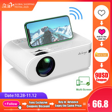 Salange P62 Mini Projector for Outdoor Movies, Support 1080P Full HD Projetor Home Theater 2800 Lumens Proyector Video Beamer