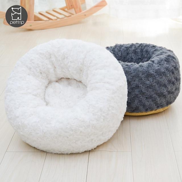 Фото круглая кровать для собаки длинные плюшевые кровати кошек теплые