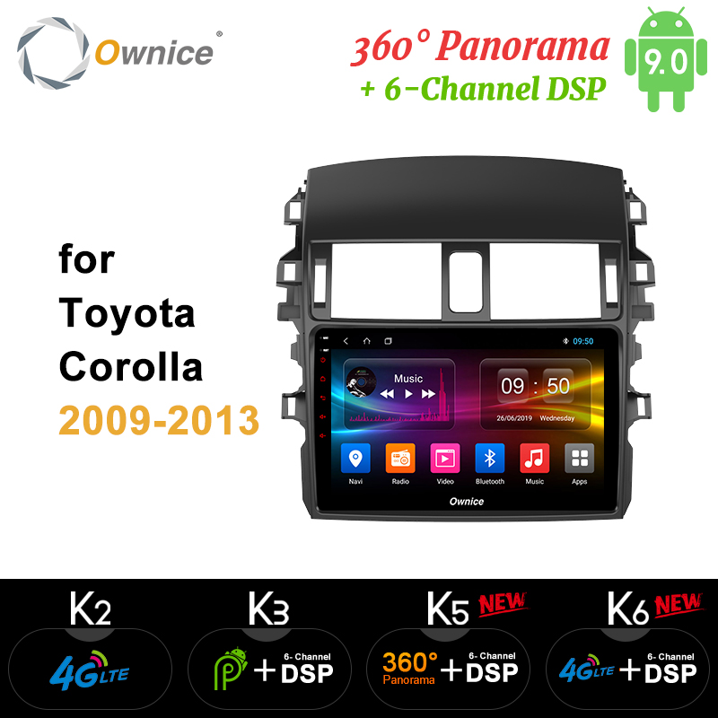 Ownice k3 k5 k6 Android 9.0 Car Radio 2 din Player Octa Core for <font><b>Toyota</b></font> <font><b>corolla</b></font> <font><b>E140/150</b></font> 160 2009 - 2017 DVR DSP 4G LTE SPDIF image