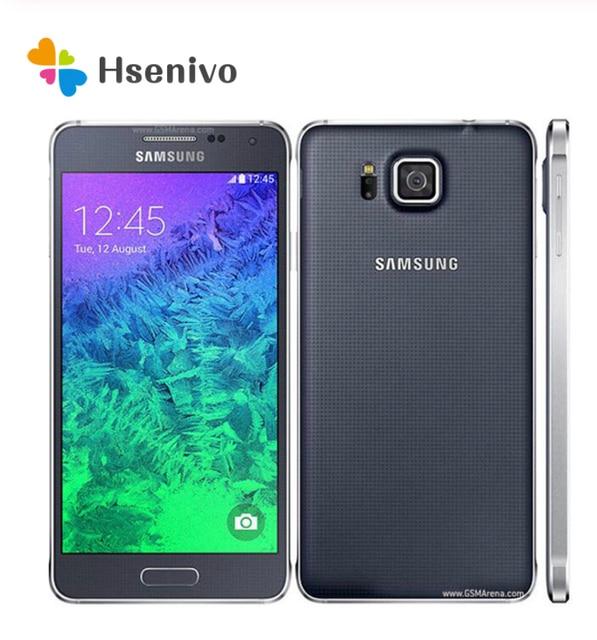 G850 Original Unlocked Samsung Galaxy Alpha G850F G850A Mobile Phone Ouad Core 2GB Ram 32GB ROM 12.0MP 4.7 Inch TouchScreen