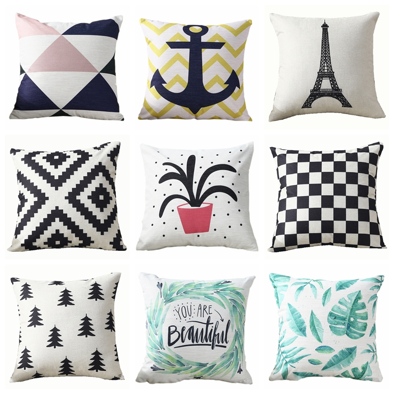 Decorative Throw Pillows Covers Colorful Cartoon Child Polyester Cushion Cover Home Decor 45*45cm 40*40cm
