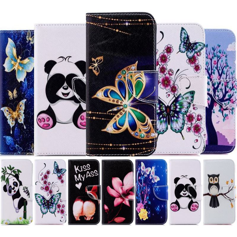 Boy Girl Cute Flip Phone Case Cover For <font><b>Nokia</b></font> 1 Plus <font><b>2019</b></font> 2.2 <font><b>3.2</b></font> 4.2 6.2 7.2 Retro Wallet Leather Coque Brand New Cover D07Z image