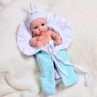 Muñecas Reborn de 30CM para bebés, juguetes para niños, colocación ropas, cuerpo completo de silicona, a prueba de agua, juguete de baño