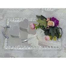 Crystal Square Mirrored Lux Engagement Tray