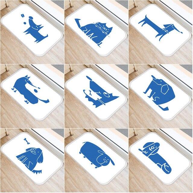 Alfombra suave antideslizante con diseño de Animal PEQUEÑO para decoración de dormitorio, alfombra antideslizante para cocina, sala de estar, baño, 40x60cm