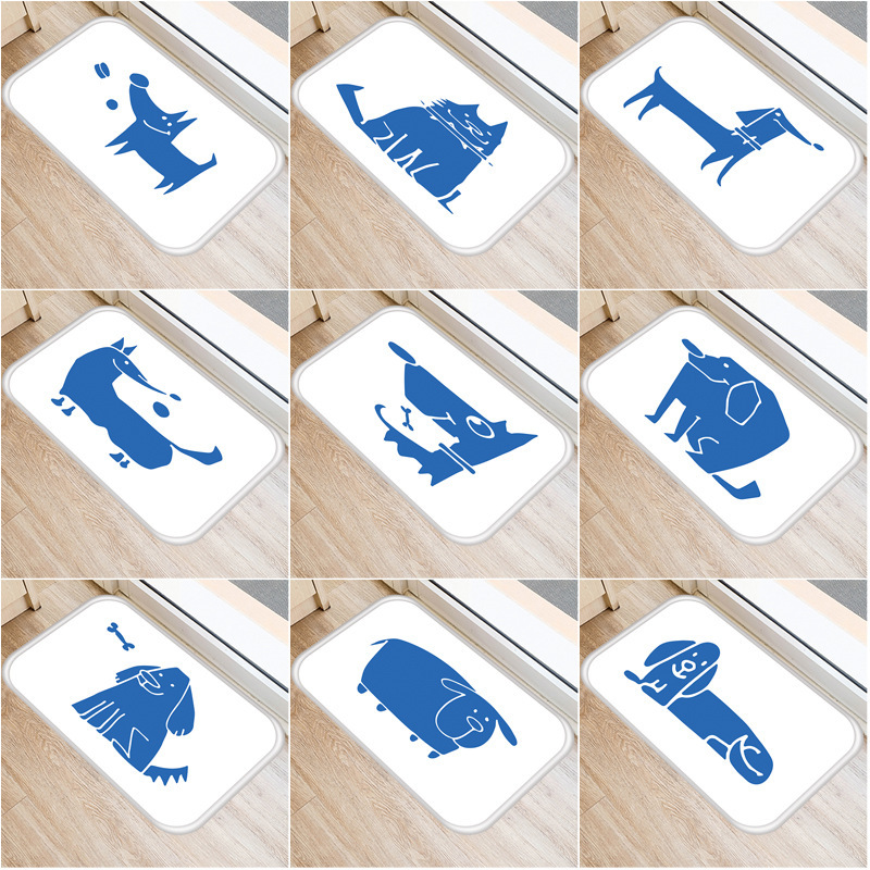 Small Animal Pattern Non slip Bedroom Decoration Soft Carpet 