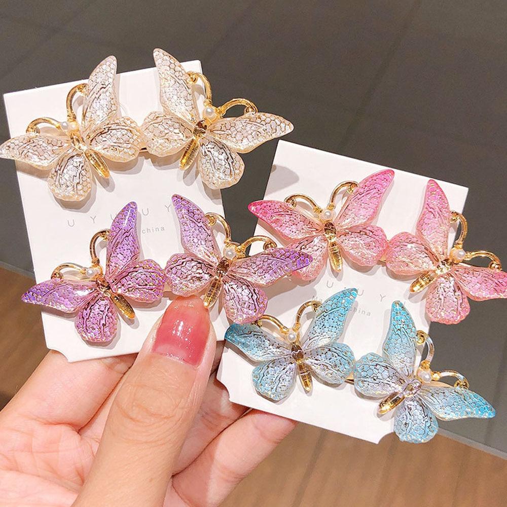 Модные заколки для волос с бабочками для женщин и девушек, милые красочные аксессуары для волос в Корейском стиле, заколки для волос, заколк...
