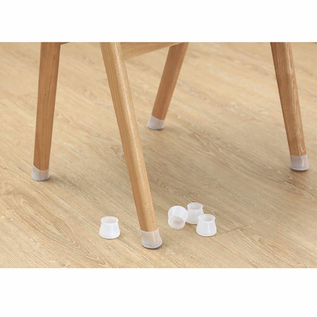 transparent coussinets de pieds de meubles de table en silicone pour prot/éger le sol des rayures smony rond Lot de 40 protections de sol en silicone pour pieds de chaises