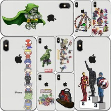 Marvel Avengers Case Do Homem De Ferro Capitao America Capa de Hard Casos Telefone Para O iphone 4 5 6 7 8 X Plus XR Coque