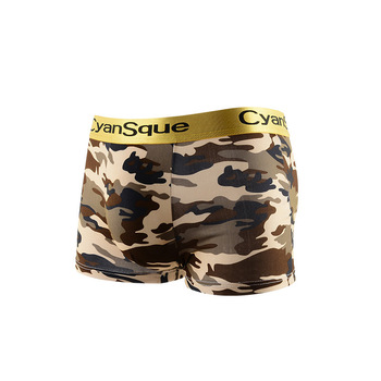 New Summer Manufacturers Wholesale Fashion Camouflage Gold Belt Cool Textured Breathable Men s Boxers Panties  Shorts