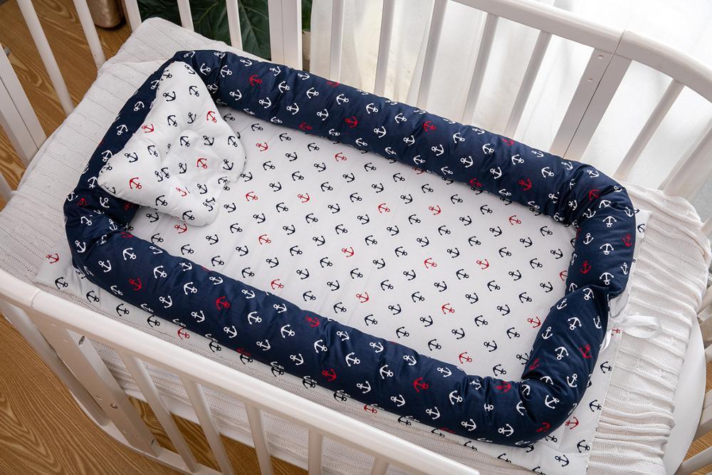Portable Baby Crib Nursery Travel Folding Baby Bed Nest Baby Lounge Newborn Infant Baby Bassinet Bumper