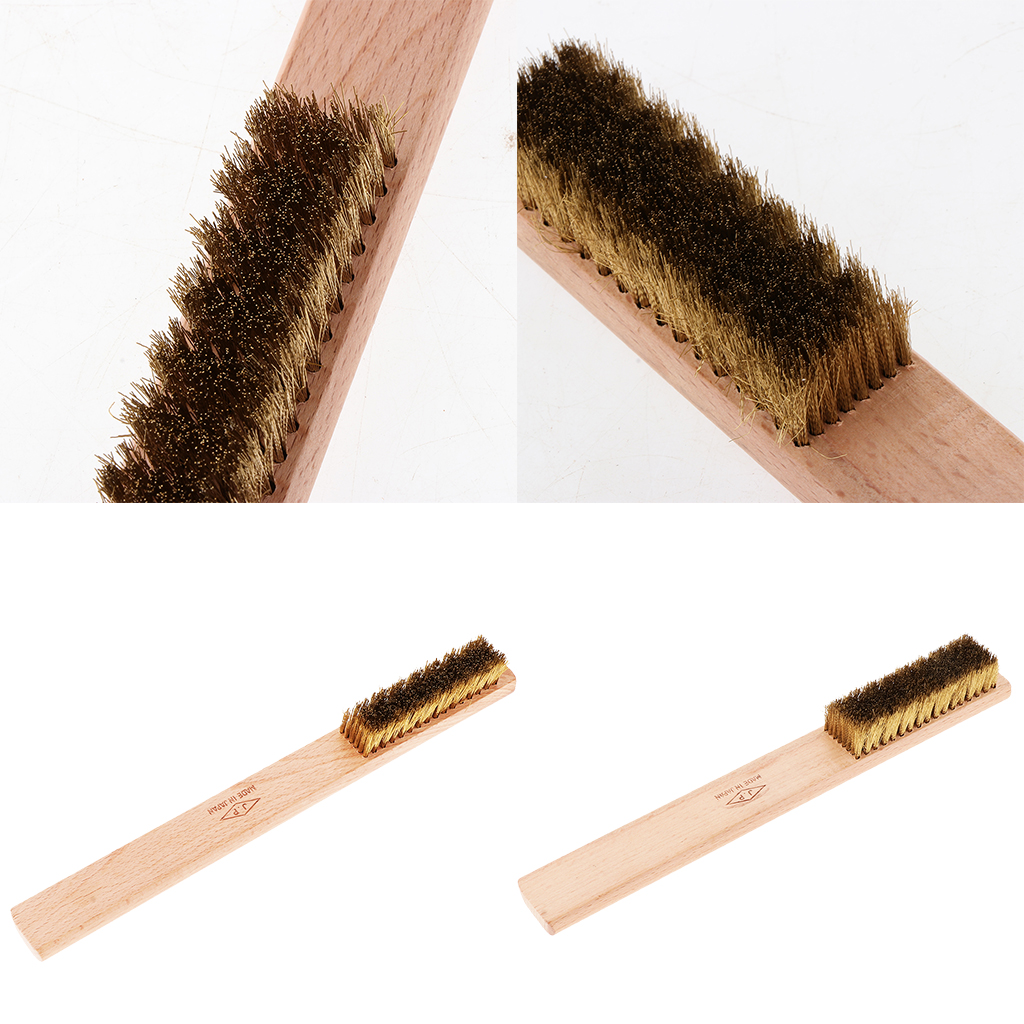 Brass Copper Wire Brush Steel Brush With Wooden Handle Nylon Wire Brush For Jewelry Rust Paint Removal Or Polish