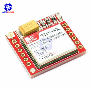 Image 3 - Diymore SIM800L GPRS GSM מודול Core Quad band TTL יציאה טורית IPX ממשק PCB אנטנה מיקרו כרטיס ה SIM עבור arduino חכם טלפון