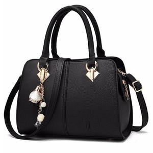 Image 3 - NUOVE donne di marca hardware ornamenti solido totes borsa della signora di alta qualità del partito della borsa di crossbody casuale sacchetti di spalla del messaggero