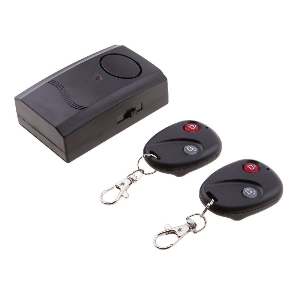 Motorcycle Wireless Dual Remote Control Vibration Alarm Anti-Theft Security
