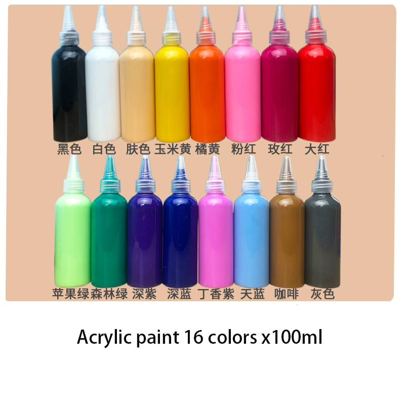 Acrylic Paint 6/12/16/24/27 Color X100 Ml Set/diy Graffiti Hand-painted Material / Painting Wall Painting Finger Painting Paint