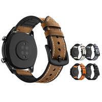 Montres intelligentes Bracelet pour Huawei GT 2 Amazfit bip ticwatch accessoires pro Bracelet en cuir Silicone SIKAI