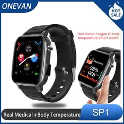 Bluetooth sport exercises smart watch men women Fitness Tracker Bracelet Pressure real-time body temperature  ECG PPG SPO2 SP1