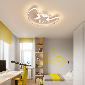 Fashionable, simple and personalized modern star moon ceiling lamp
