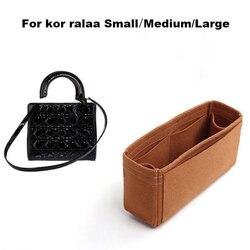 Подходит для k orralaa, маленькая, средняя, большая, 3 мм, премиум-класса, войлочная вставка, сумка-Органайзер, косметичка, формирователь, органай...