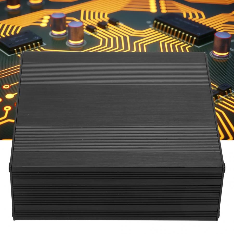 Frosted Black Extruded Aluminum Enclosure Waterproof PCB Instrument Project Case DIY Electronic Wire Junction Box 54x145x150mm