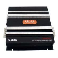 C-236 3800W 2 Channel Car Audio Amplifier 12V DC Low Pass Filter Bass Subwoofer Dropshipping