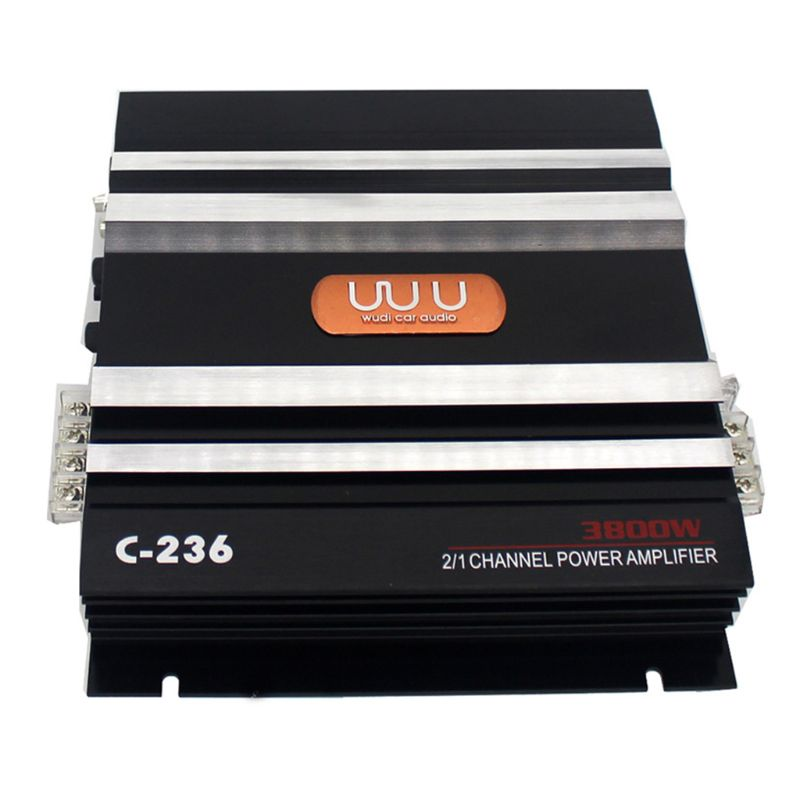 C-236 3800W 2 Channel Car Audio Amplifier 12V DC Low Pass Filter Bass Subwoofer