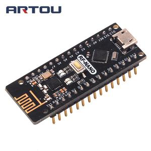 RF-Nano для Arduino Nano V3.0 микро USB наноплата ATmega328P QFN32 5V 16M CH340 интегрированная NRF24L01 + 2,4G Беспроводная CH340