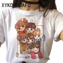 Bangtan Boys Women T Shirt Harajuku Korean Female Tshirt Jung Kook J-hope Rm Suga Jin Jimin V T-shir