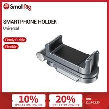 Smallrig Universele Smartphone Houder Voor Iphone X/Xs Vlogging Accessoires Mobiele Telefoon Klem Mount Met Koud Shoe Mount  2415